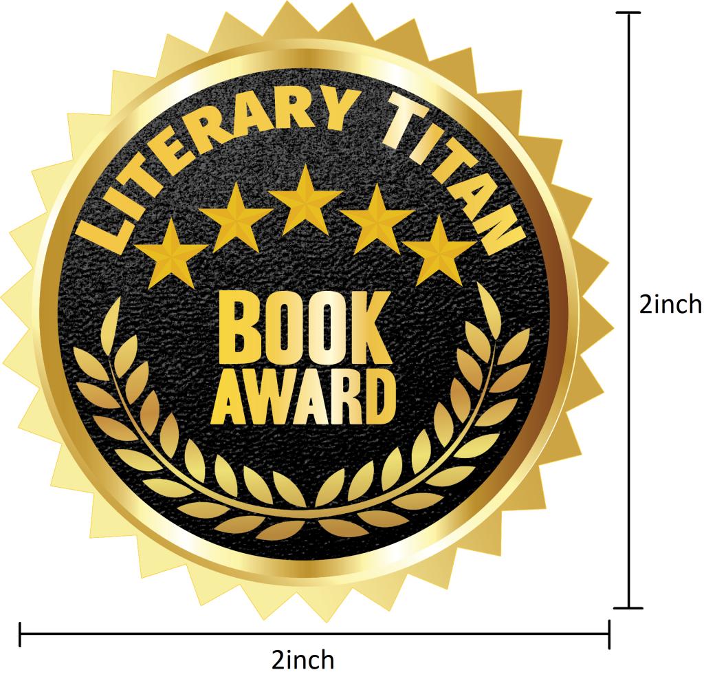 Literary Titan Gold Book Award Measured 2 inch