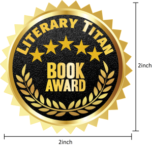 Literary Titan Gold Book Award Measured 2 inch