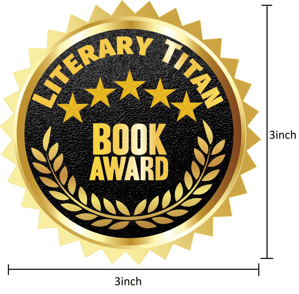 Literary Titan Gold Book Award Measured 3 inch
