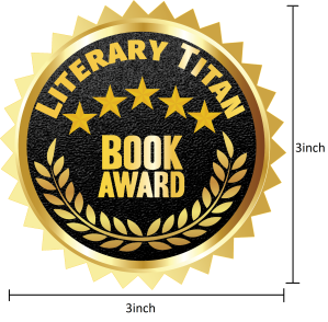 Literary Titan Gold Book Award Measured 3 inch