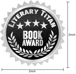 Literary Titan Silver Book Award Measured 2 inch