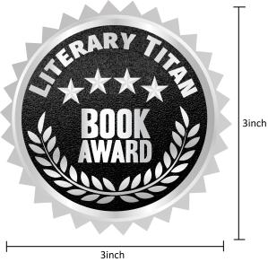 Literary Titan Silver Book Award Measured 3 inch